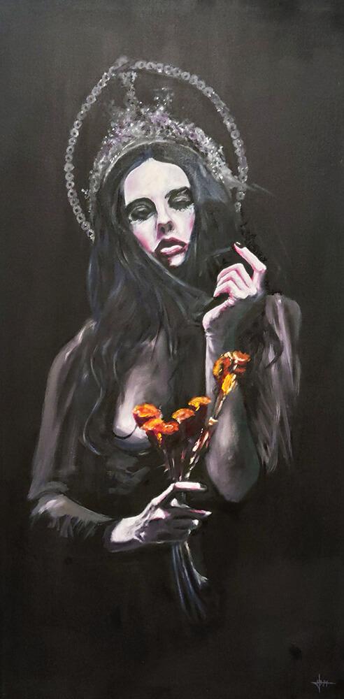 Jose-moratalla-Virgen-dolorosa-De-peccatis-et-morte-collective-exhibition-illustration-Horno-Art-Virtual-decorative-decoration-2021-painful-virgin