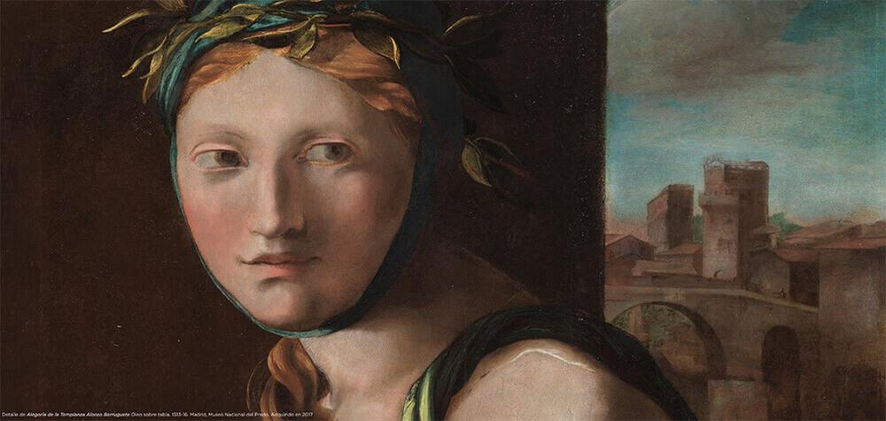 Alegoria-de-la-templanza-Berruguete-Legado-Carmen-Sanchez-la-ultima-leccion-2021-Horno-galeria-arte-online-1000x478