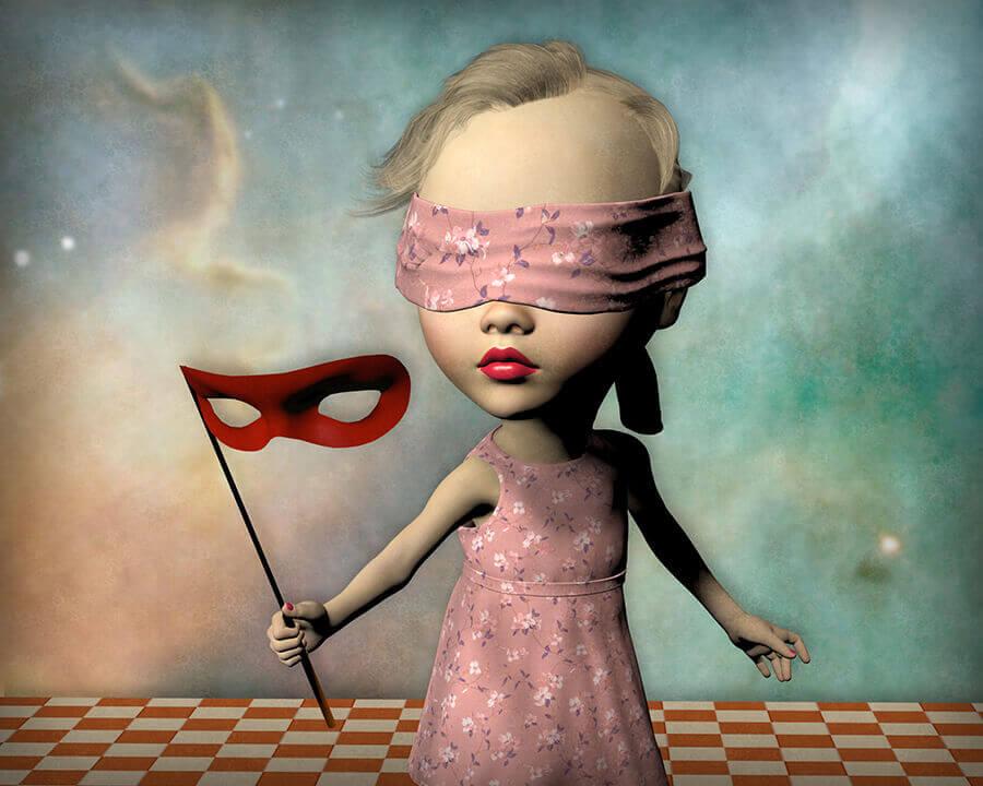 CAC-Malaga-2021-Exposicion-Don-Bergland-Masquerade-Horno-galeria-arte-online-niña-900x720