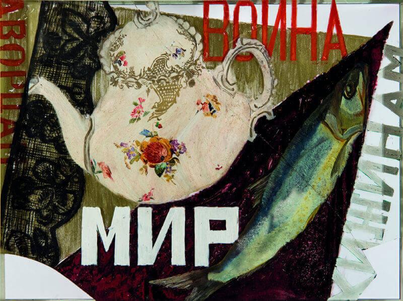 Exposicion-guerra-paz-en-arte-ruso-SOFIA-DÍMSHITS-TOLSTAIA-PAZ-A-LAS-CHOZAS-GUERRA-A-LOS-PALACIOS-Museo-Ruso-Malaga-Horno-galeria-arte-online-800x597
