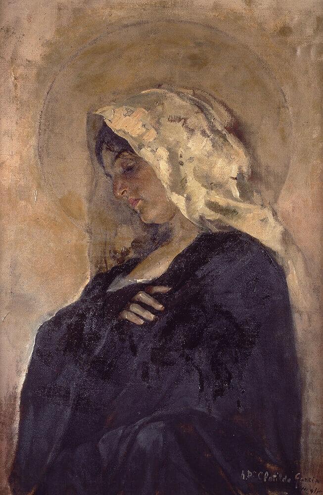 Sorolla-virgen-maria-1885-87-Exposicion-Tormento-y-Devocion-2021-Museo-Sorolla-Madrid-Horno-galeria-arte-online-653x1000
